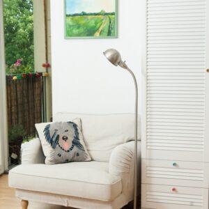 pastelowa sypialnia – gałki ceramiczne