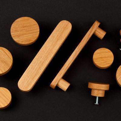 Gałki do mebli - dębowe - produkowane w manufakturze DOT - uchwyty i galki BASIC