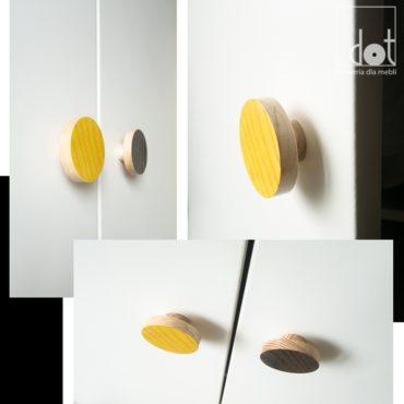 Drewniane gałki w wersji kolorowej