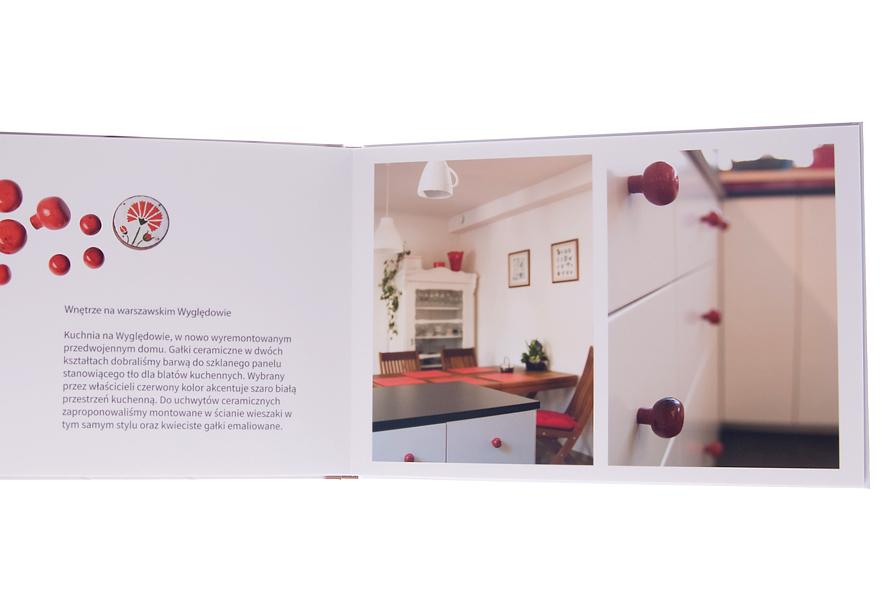 Ceramiczne gałki kuchenne o czerwonym kolorze