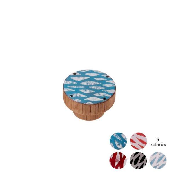 Gałki meblowe kolorowe seria ŁAWICA, gałka 40mm