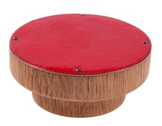 Duża gałka meblowa - drewniana z emaliowanym frontem - DOT manufacture