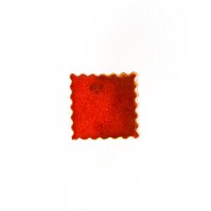 Gałki meblowe - kwadratowe - czerwona ceramiczna gałka - DOT manufacture