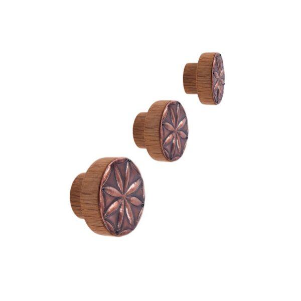 Gałka meblowa repusowana - na bazie drewnianej | DOT manufacture