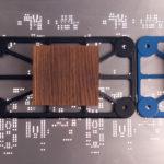 PAJĄK uchwyt do mebli: czarna i niebieska ramka | DOT manufacture