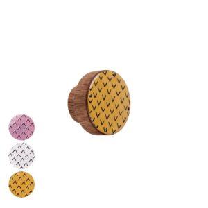 Gałka meblowa PATTERN III - emaliowana ze wzorem | DOT manufacture