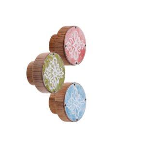 Emaliowane gałki do mebli z wzorem parzenicy - PODHALE
