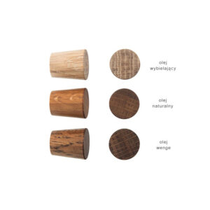 Dębowa gałka do mebli 2 cm - DOT manufacture