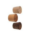 Drewniane gałki do mebli - olejowane na 3 kolory - dąb. Średnica 2,5 cm. DOT manufacture
