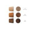 Dębowe gałki do mebli - 2,5 cm - DOT manufacture - wzornik