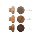 Wzornik gałek meblowych - dębowe 3cm - DOT manufacture