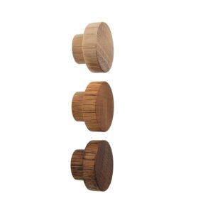 Gałki meblowe - dębowe - 4cm