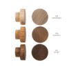 Gałki meblowe - dębowe - 4cm - wzornik kolorów olejów