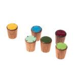 Gałka do mebli emaliowana SIMPLE - 2cm - różne kolory frontów