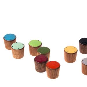 SIMPLE gałki meblowe drewniane -emaliowane 25mm