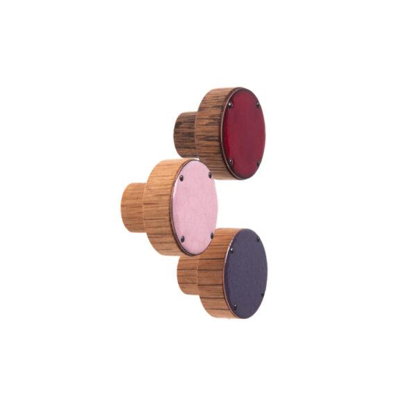 Gałka meblowa emaliowana - baza drewniana SIMPLE 3cm