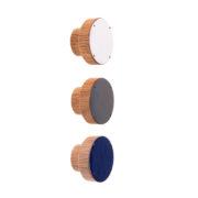 Gałka meblowa drewniana z emaliowanym frontem 4cm SIMPLE