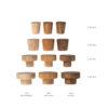 Bazy drewniane dla gałek meblowych emaliowanych - wzornik | DOT manufacture