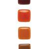 Jednokolorowa SZKLANA gałka do mebli - odcienie pomarańczowe | DOT manufacture