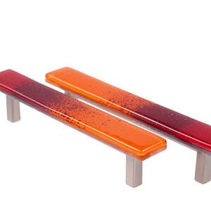 Uchwyty meblowe - szklane - pomarańczowe - DOT manufacture