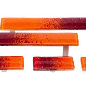 Uchwyty i gałki meblowe - pomarańczowe - szklane-DOT-manufacture