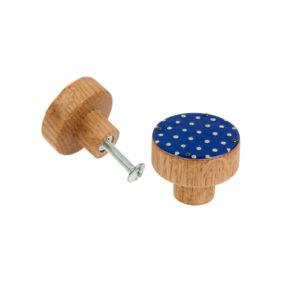 Gałka meblowa w kolorze granatowym | DOT Manufacture