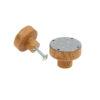 Emaliowana gałka do mebli - szara w białe kropeczki | DOT Manufacture