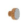 Emaliowana gałka do mebli o szaro białym froncie| DOT Manufacture