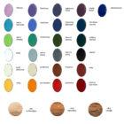 Gałki meblowe emaliowane - wzornik kolorów emalii i drewna