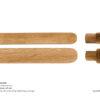 BASIC ROUND uchwyty do mebli - drewniane 160 mm, rozstaw 128 mm