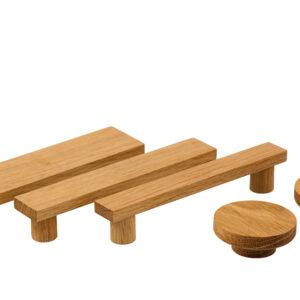 Uchwyty meblowe BASIC SQUARED - wszystkie szerokości, rozstaw 128 mm | DOT manufacture