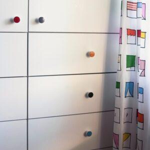 Gałki do mebli w pokoju dziecięcym - SIMPLE emaliowane 3 cm