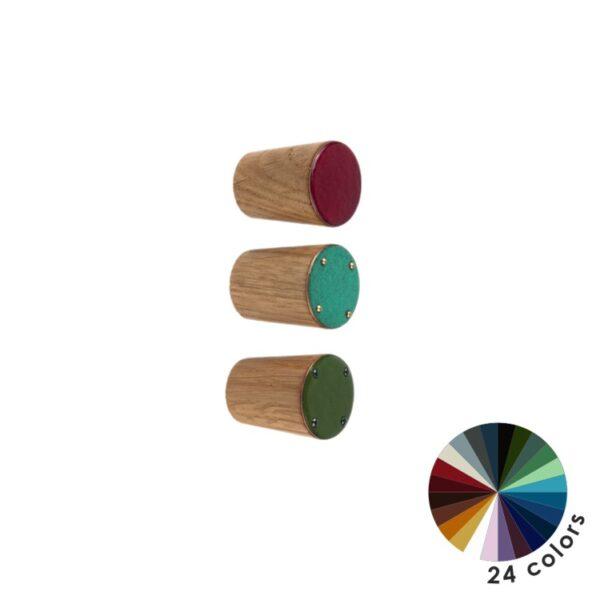 Kolorowe gałki do mebli DOT Manufacture - średnica 2 cm