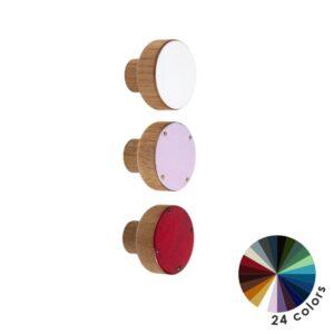 Kolorowe gałki do mebli DOT Manufacture - średnica 3 cm