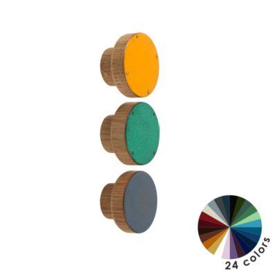 Kolorowe gałki do mebli DOT Manufacture - średnica 4 cm