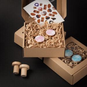 Zestaw prezentowy z różowymi wieszakami CLOUDY | DOT manufacture