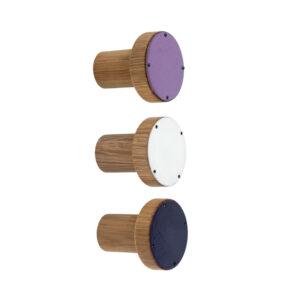 Fioletowe wieszaki emaliowane SIMPLE – zestaw prezentowy