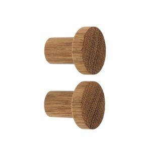 SIMPLE - wieszaki dębowe o średnicy 4 cm, opakowane w pudełko z szybką | DOT manufacture
