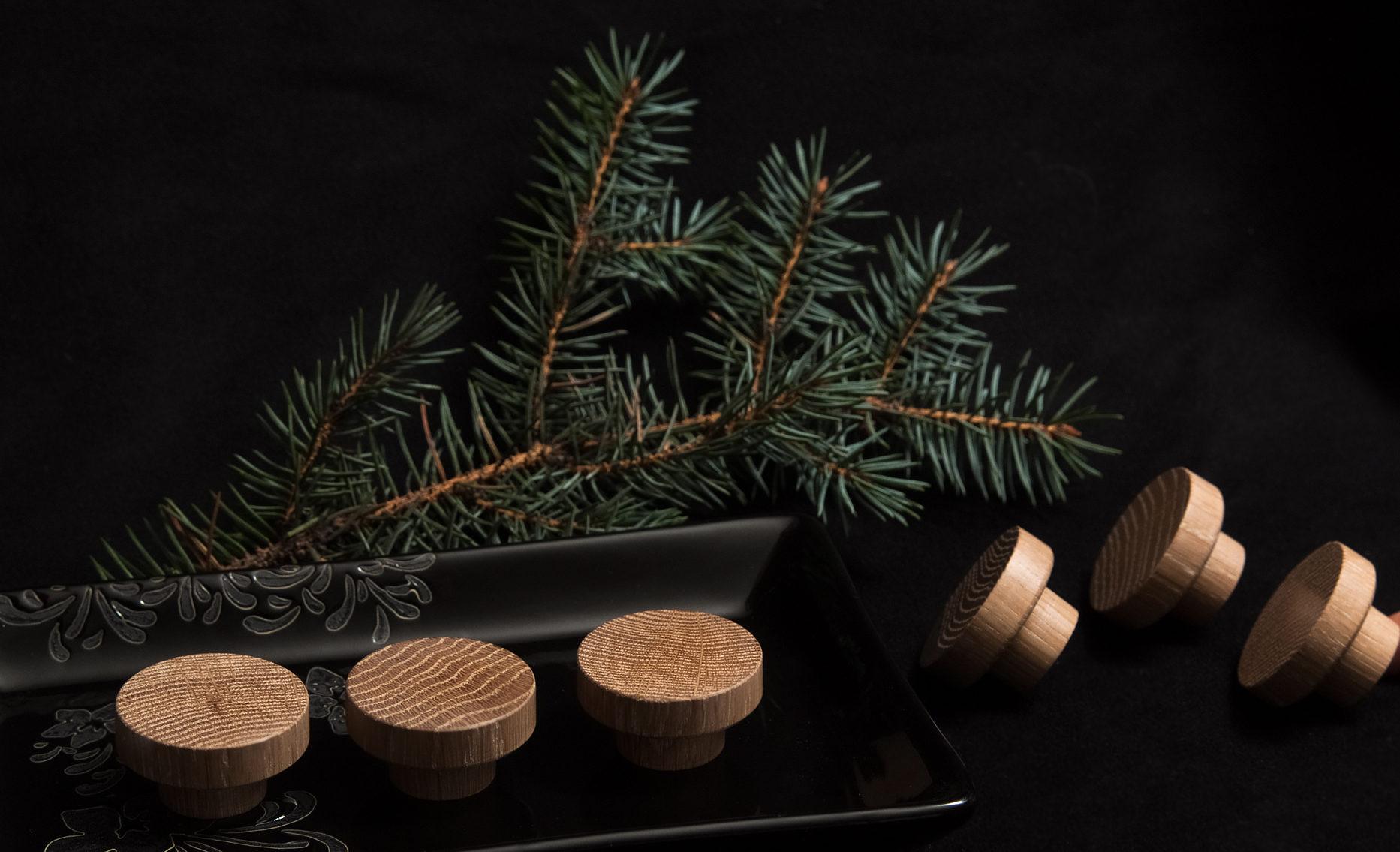 Drewniane gałki do mebli SIMPLE - DOTmanufacture