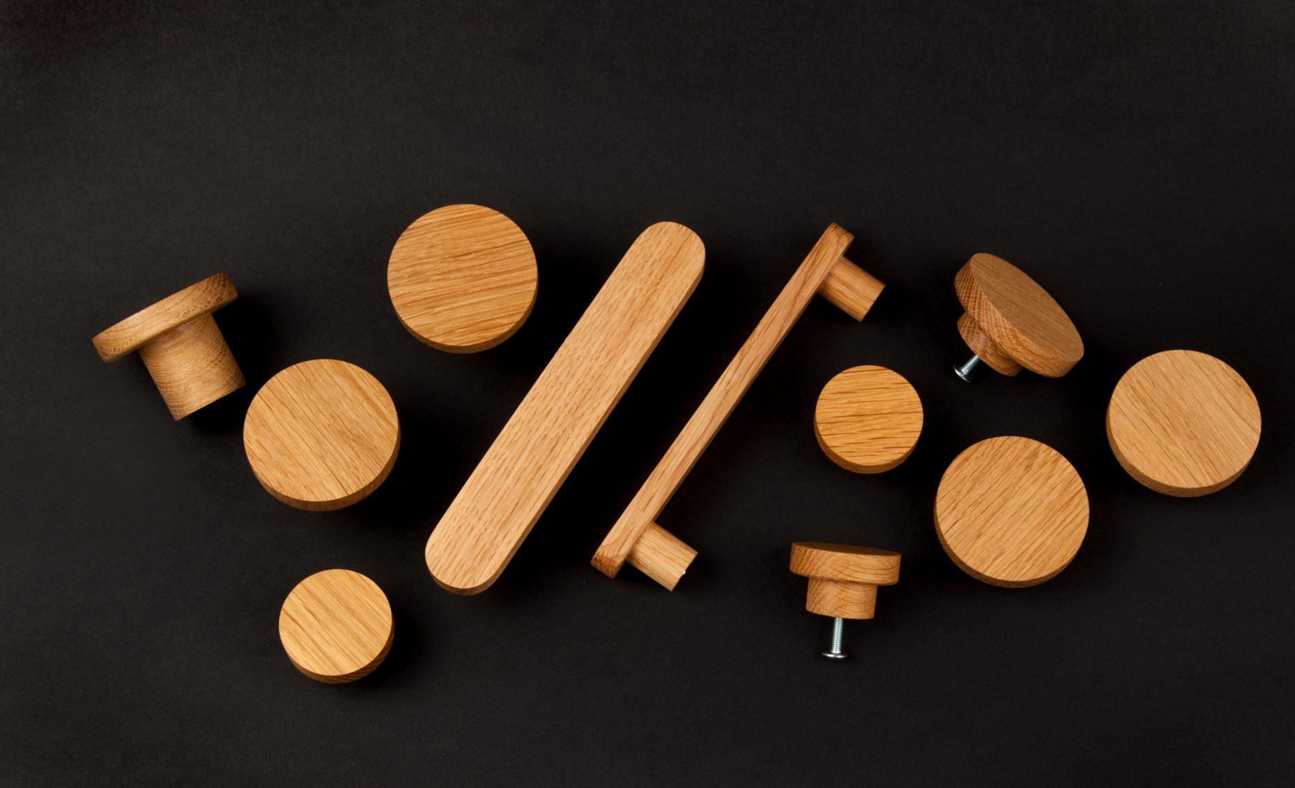 Drewniane uchwyty do mebli i gałki - kolekcja BASIC