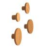 Drewniane wieszaki BASIC - do zamontowania bezpośrednio na ścianie