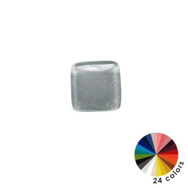 Gałki do mebli szklane, kwadratowe - 24 kolory
