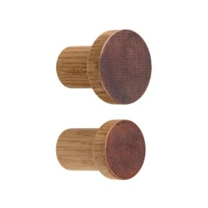 Miedziane fronty wieszaków STAMP - wytłaczane i oksydowane. Copper hooks for coats. www.dotmanufacture.com