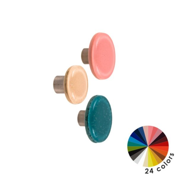 Kolorowe szklane gałki do mebli DOT Manufacture