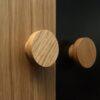 Dębowe gałki do mebli - BASIC 4 cm