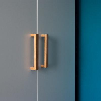 Minimalistyczne uchwyty drewniane BASIC RECTANGULAR - DOT Manufacture