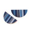 Półokrągłe uchwyty TONE blue o niesymetrycznie emaliowanych frontach