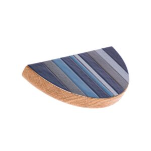 Półokrągły uchwy emaliowany TONE Blue