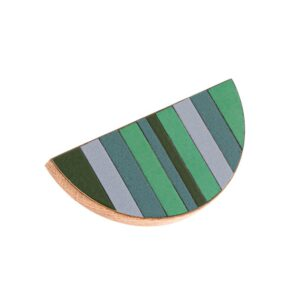 TONE Green – półokrągłe emaliowane uchwyty meblowe