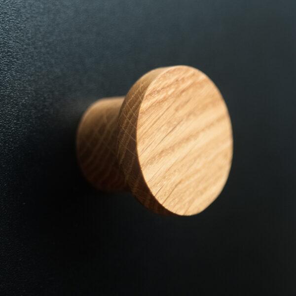 Wieszak dębowy / gałka do mebli BASIC - krótka seria